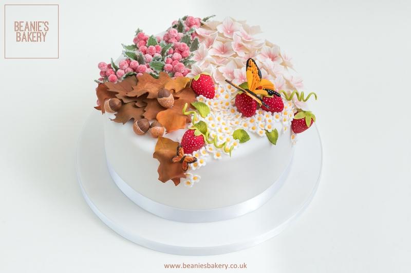 Four Seasons Themed Cake by Beanies Bakery