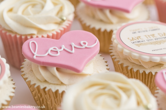 Save the Date Wedding Cupcakes by Beanie's Bakery