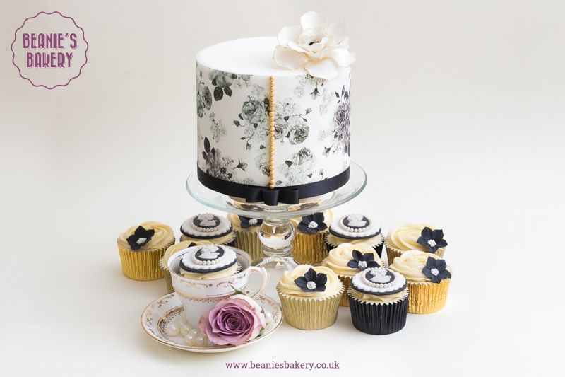 Vintage Wedding Cakes and Cupcakes by Beanie's Bakery
