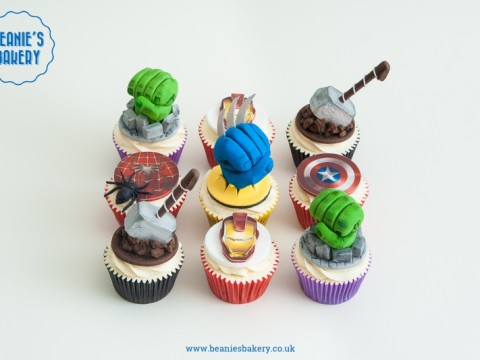 Marvel Superohero Cupcakes by Beanie's Bakery in Solihull
