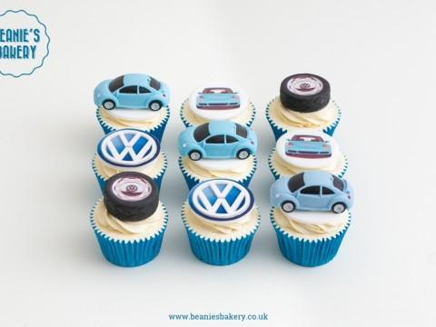 Volkswagen Beetle Cupcakes by Beanie's Bakery in Solihull