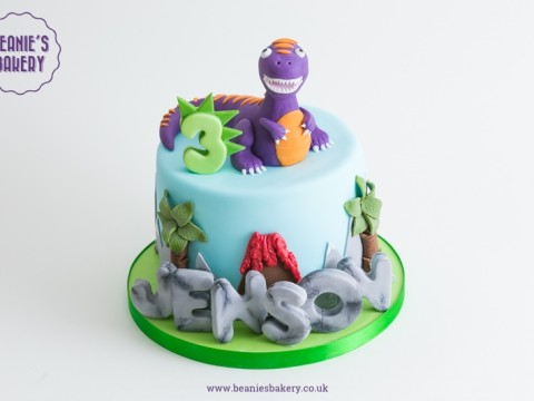 Dinosaur Birthday Cake by Beanie's Bakery in Solihull
