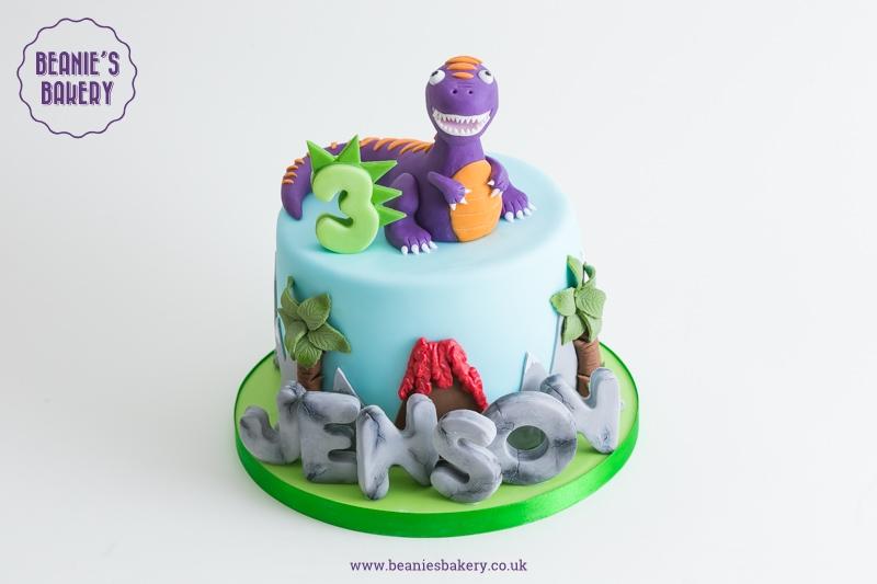 Dinosaur Birthday Cake In Harborne And Edgbaston  Beanies Bakery - Birthday cakes solihull