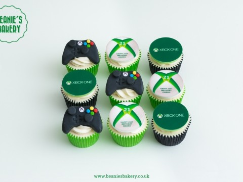XBox Themed Cupcakes by Beanie's Bakery