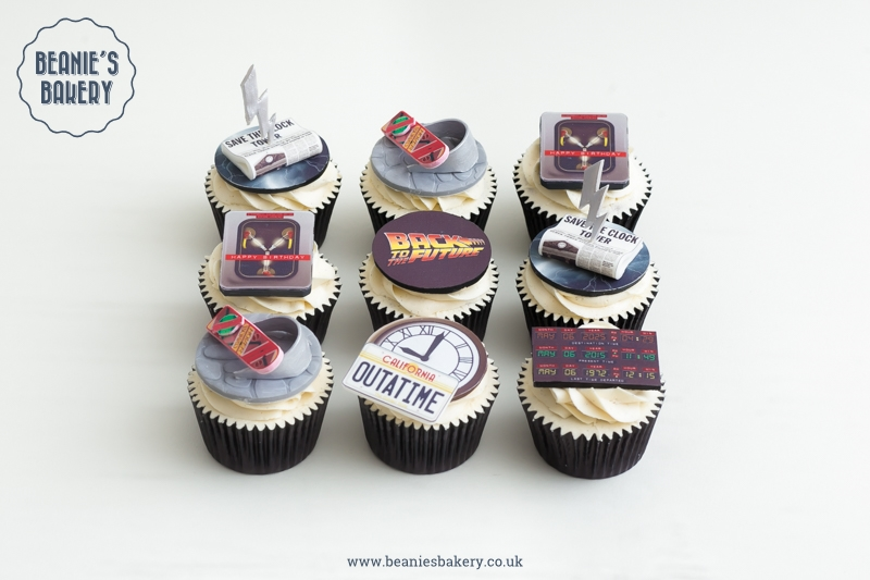 Back to the Future Cupcakes by Beanie's Bakery in Solihull