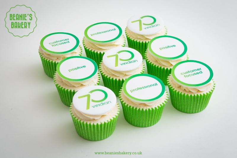 Viridian Housing Corporate Logo Cupcakes by Beanie's Bakery