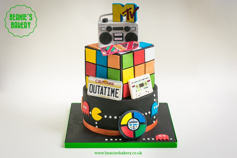 80s Birthday Cake By Beanies Bakery
